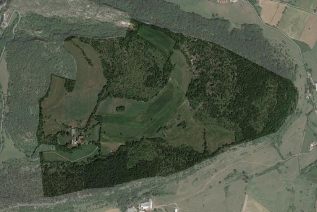 Vue satellite du lieu